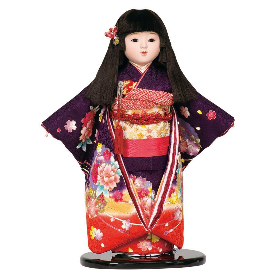 市松人形 13号 紫ボカシ 金彩 #1390 高さ48cm