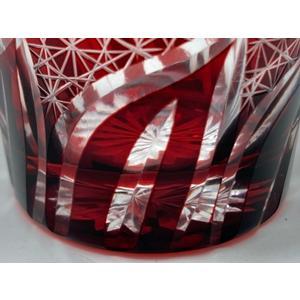 20%OFF 西濃運輸選択のみ送料無料 手造り切子 菊繋ぎ流しロックグラス 赤 切子グラス|toushien|06