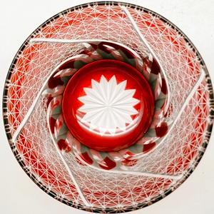 20%OFF 西濃運輸選択のみ送料無料 手造り切子 菊繋ぎ流しロックグラス 赤 切子グラス|toushien|07