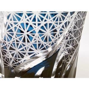 20%OFF 西濃運輸選択のみ送料無料 手造り切子 菊繋ぎ流しロックグラス 正倉院ブルー 切子グラス|toushien|10