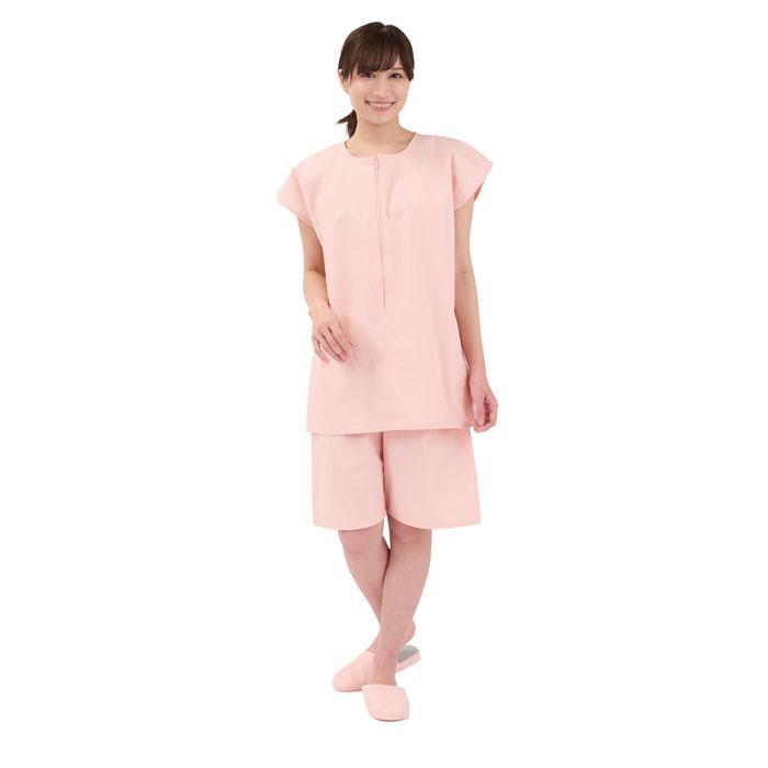 TW患者衣シリーズ 2WAY患者衣 サーモンピンク トワテック × 10セット