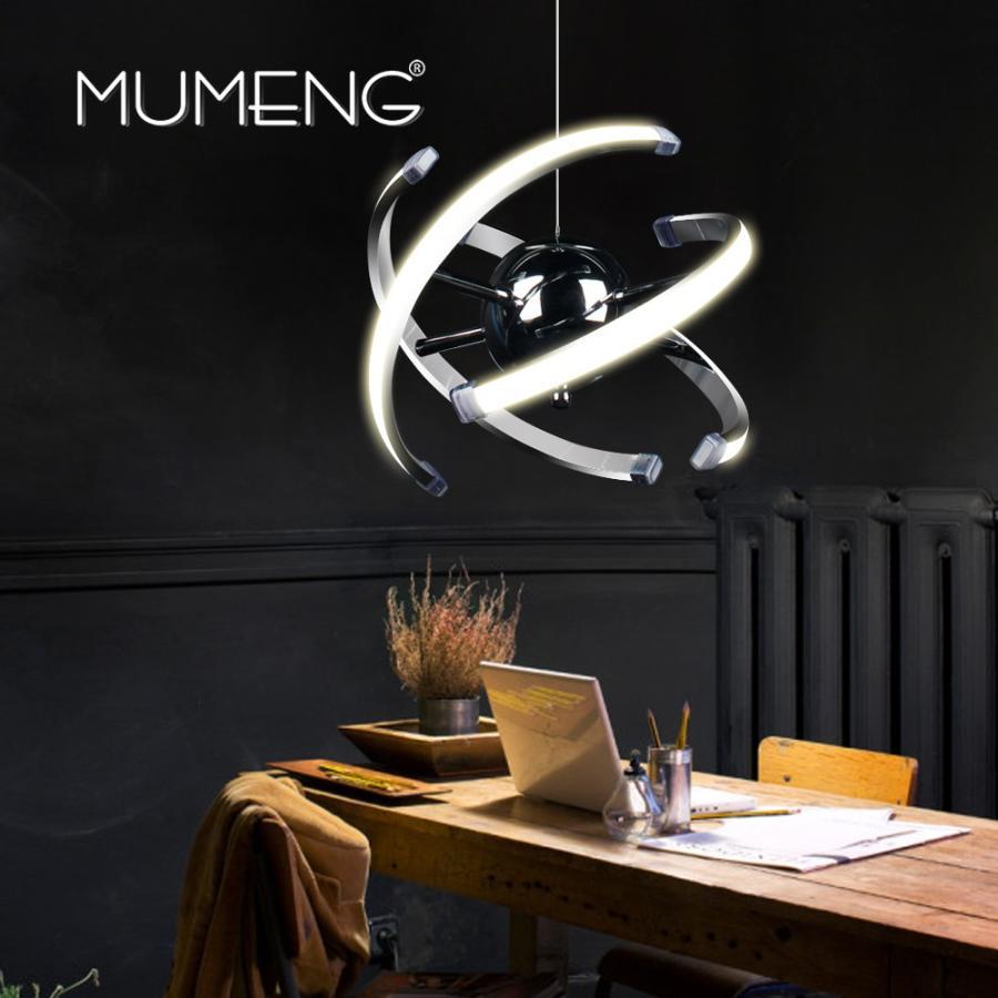 ペンダントライト mumeng ledボールペンダントライト23ワット現代アクリルキッチンランプ85-265ボルトダイニングルームぶら下げ照明調節可能なスタイルluxture