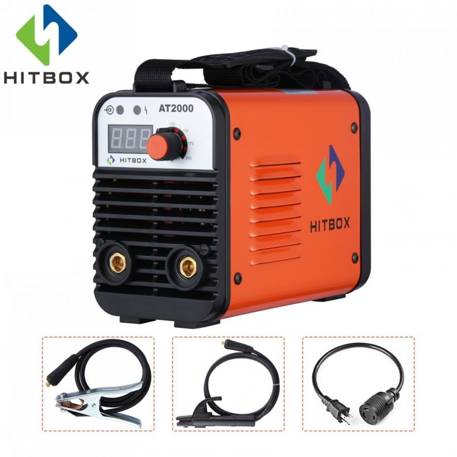 HITBOXデュアルボルトARC溶接機ロッドスティック110 / 220Vミニポータブルインバータ溶接機AT2000