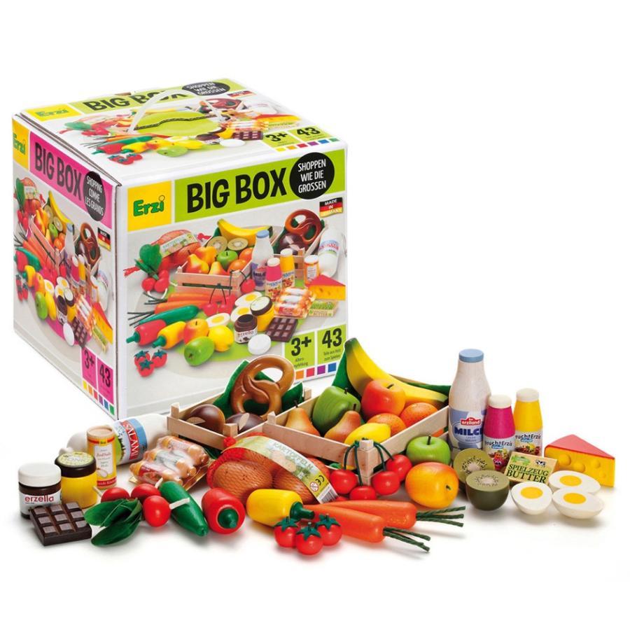 Erzi(エルツィ)木製ままごとセット『Big Box お店屋さんごっこ・完全版(43ピース入り)』Shop assortment Big Box