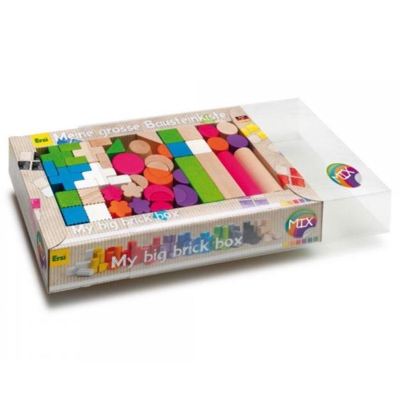 Erzi(エルツィ)積木『ミックス積み木(56ピース)』Mix Of Building Bricks Mix
