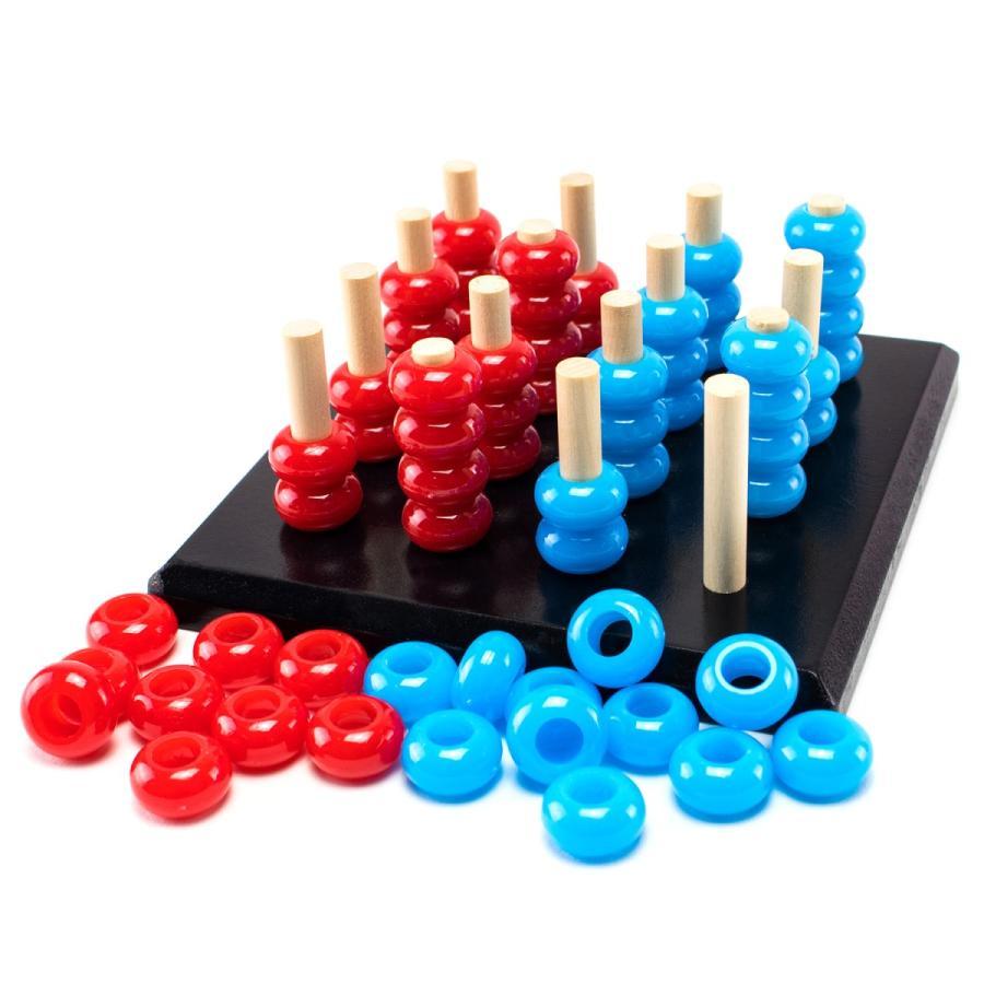 TOYARTs 立体四目並べ 3D Four Eyed RED-BLUE Game toyarts