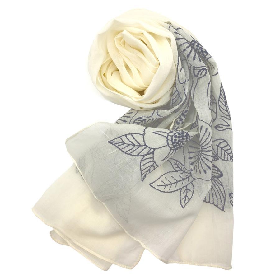 Confiance(コンフィアンス) レディース ストール スカーフ コットン 刺繍 UVケア 乾燥対策 クーラー対策 母の日 プレゼント|toyarts|09