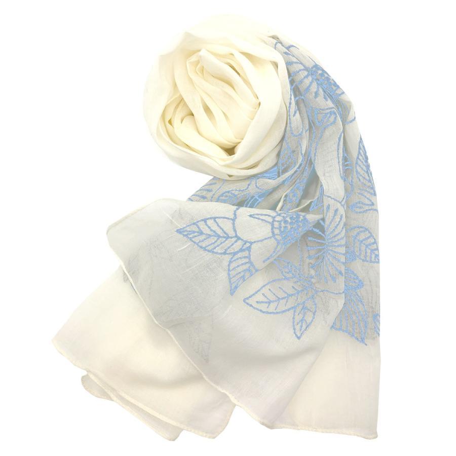 Confiance(コンフィアンス) レディース ストール スカーフ コットン 刺繍 UVケア 乾燥対策 クーラー対策 母の日 プレゼント|toyarts|10