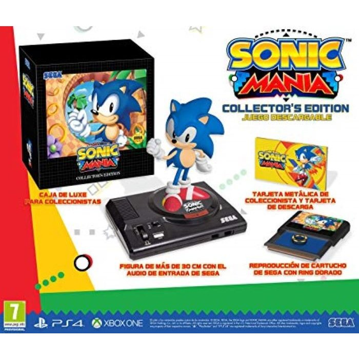 【取り寄せ】Sonic Mania Collector's Edition (Spanish outer Sleeve, English inner carton/EFIGS IN Game) /PS4 輸入版