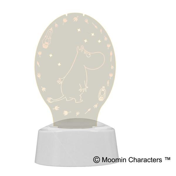 ムーミン グッズ LED アクセサリースタンド メガネスタンド 間接照明 音感センサー タイマー 電池 USB アクリスタ 29699|toyocase-store|02