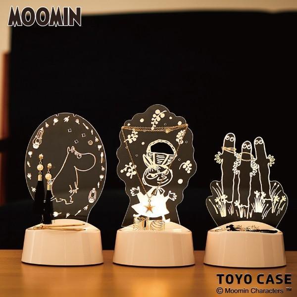 ムーミン グッズ LED アクセサリースタンド メガネスタンド 間接照明 音感センサー タイマー 電池 USB アクリスタ 29699|toyocase-store|06