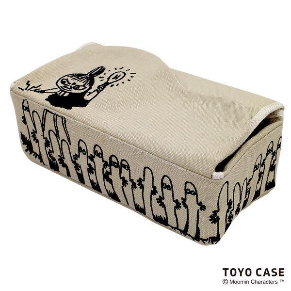 ムーミンシリーズ ティッシュケース リトルミイ ニョロニョロ アイボリー レッド 北欧 ムーミンイラスト コットン 刺繍 オシャレ|toyocase-store