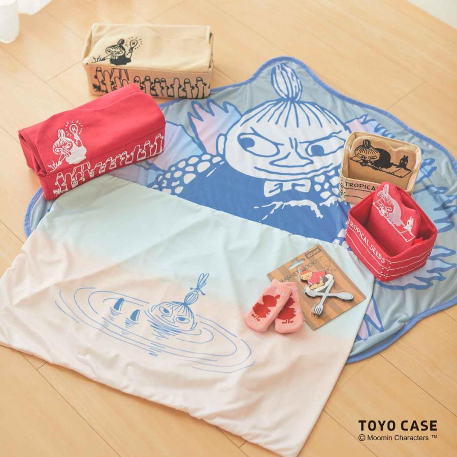 ムーミンシリーズ ティッシュケース リトルミイ ニョロニョロ アイボリー レッド 北欧 ムーミンイラスト コットン 刺繍 オシャレ|toyocase-store|05