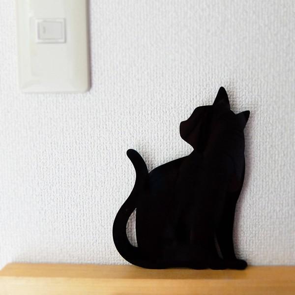 ウォールライト フットライト LEDライト 音感照度センサー 電池式 ネコ キャットウォールライト2 ちら見|toyocase-store|02