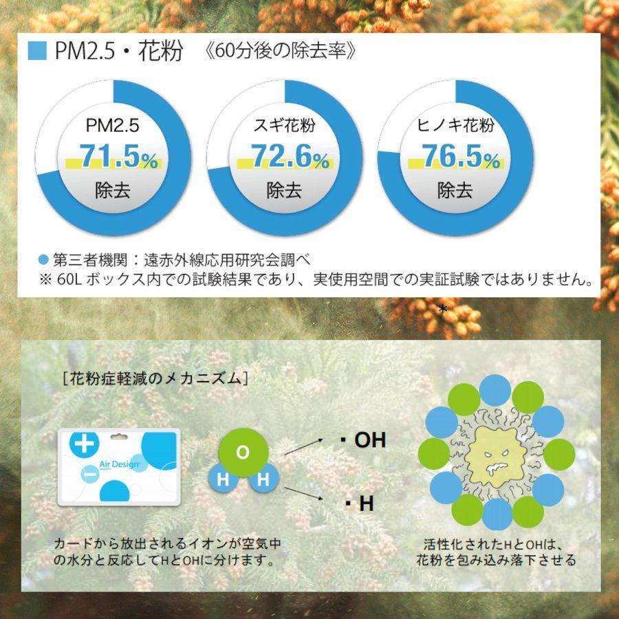 エアデザインカード Air Design Card 花粉症対策 ウィルス PM2.5 クラスターイオン+遠赤外線発生カード クリックポストのみ対応|toyokohan|07