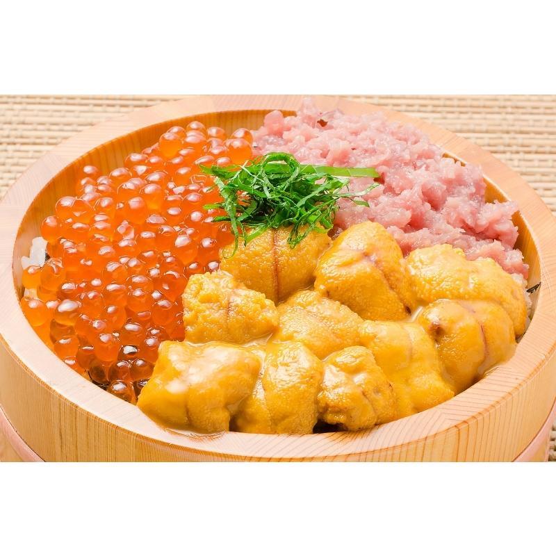 豊洲の海鮮丼セット 至高 約2〜3人前 王様のネギトロ&無添加生ウニ&北海道産いくら(うに イクラ ねぎとろ 詰め合わせ 寿司 刺身) toyosushijou 04