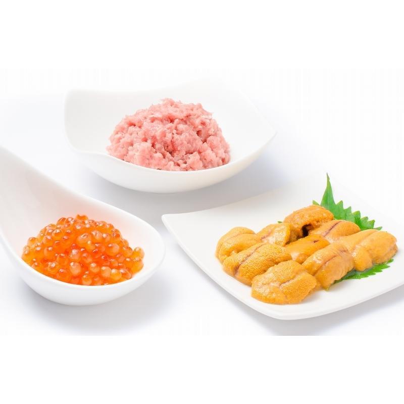 豊洲の海鮮丼セット 至高 約2〜3人前 王様のネギトロ&無添加生ウニ&北海道産いくら(うに イクラ ねぎとろ 詰め合わせ 寿司 刺身) toyosushijou 05