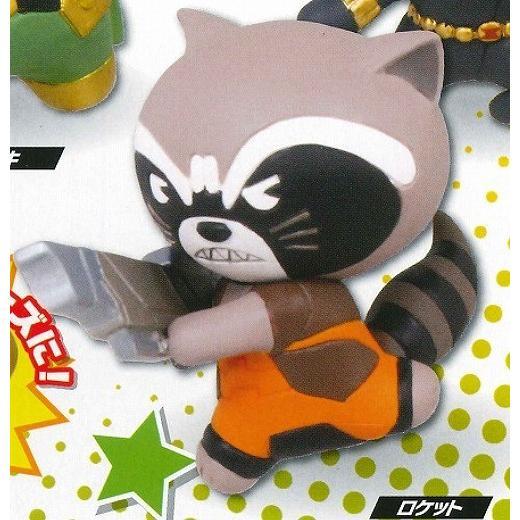 マーベル Kawaii Art 新作販売 人気ブランド多数対象 Figure 2 カワイイ 5.ロケット C アート ネコポス不可 フィギュア