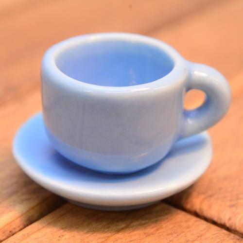 ミニチュア雑貨 コーヒーカップamp;ソーサー 無地:ブルー SM-CCSP202 品番:28020 imp m-s 別倉庫からの配送 ネコポス配送対応 訳あり