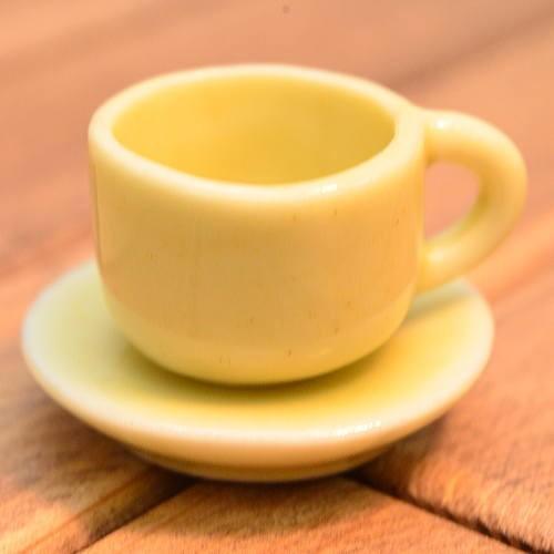 ミニチュア雑貨 毎日激安特売で 営業中です コーヒーカップamp;ソーサー 無地:ライトグリーン 卸売り SM-CCSP204 m-s imp ネコポス配送対応 品番:28022