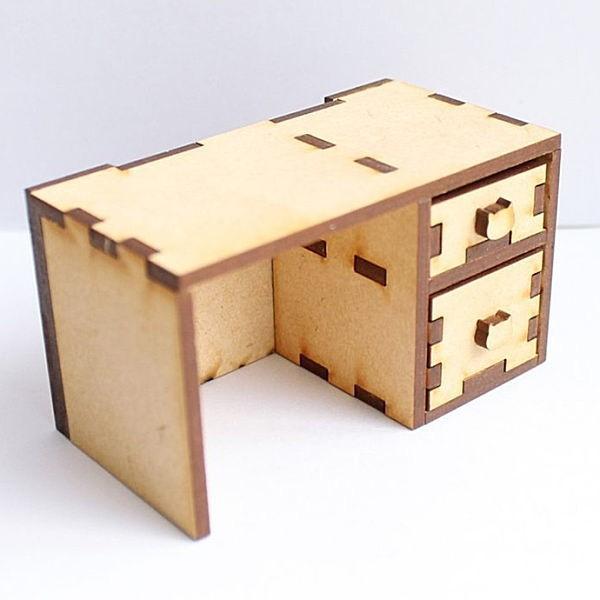 品質保証 猫のミニチュア 蔵 机 1 12スケール 完成品 C ネコポス不可 ドールハウス m-s