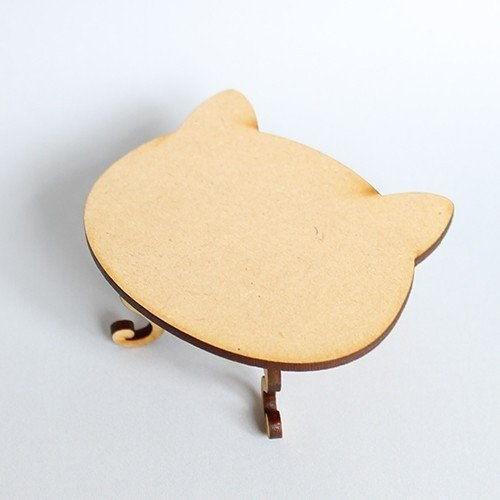 猫のミニチュア ねこあしローテーブル 1 12スケール 完成品 日本産 ネコポス不可 m-s ドールハウス C 特売