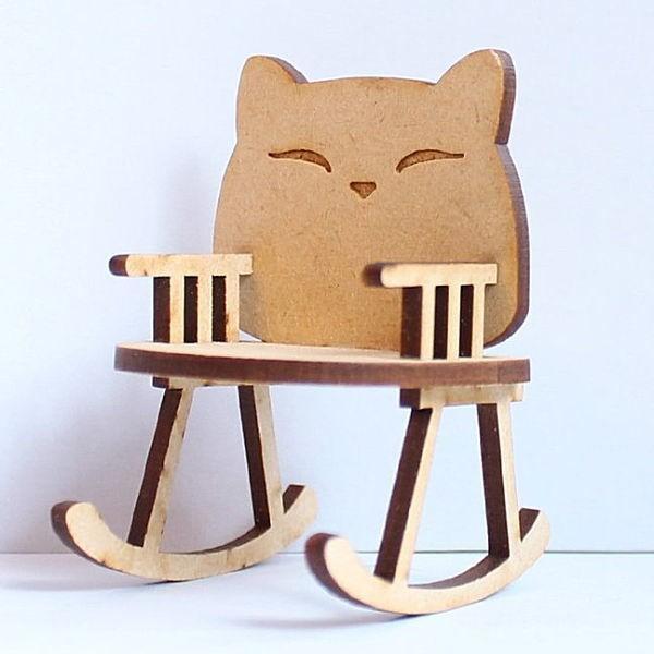 猫のミニチュア 揺りイス 期間限定の激安セール 1 12スケール 完成品 在庫処分 ネコポス不可 m-s C ドールハウス