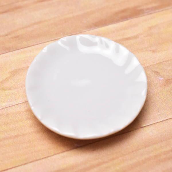 国内在庫 ミニチュアパーツ 陶器 Mサイズ MPLP1 セラミックプレート imp ネコポス配送対応 m-s C 実物 カラー:ホワイト