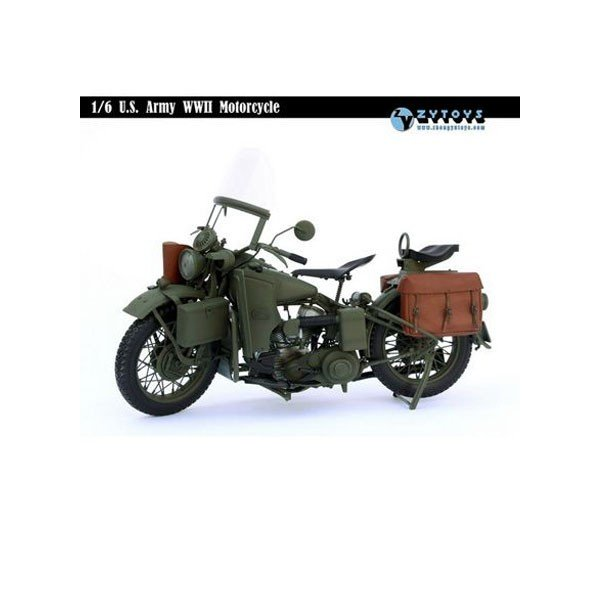 ZY-TOYS 1/6 WWII U.Sアーミー モーターサイクル (ZY-8037) *送料無料