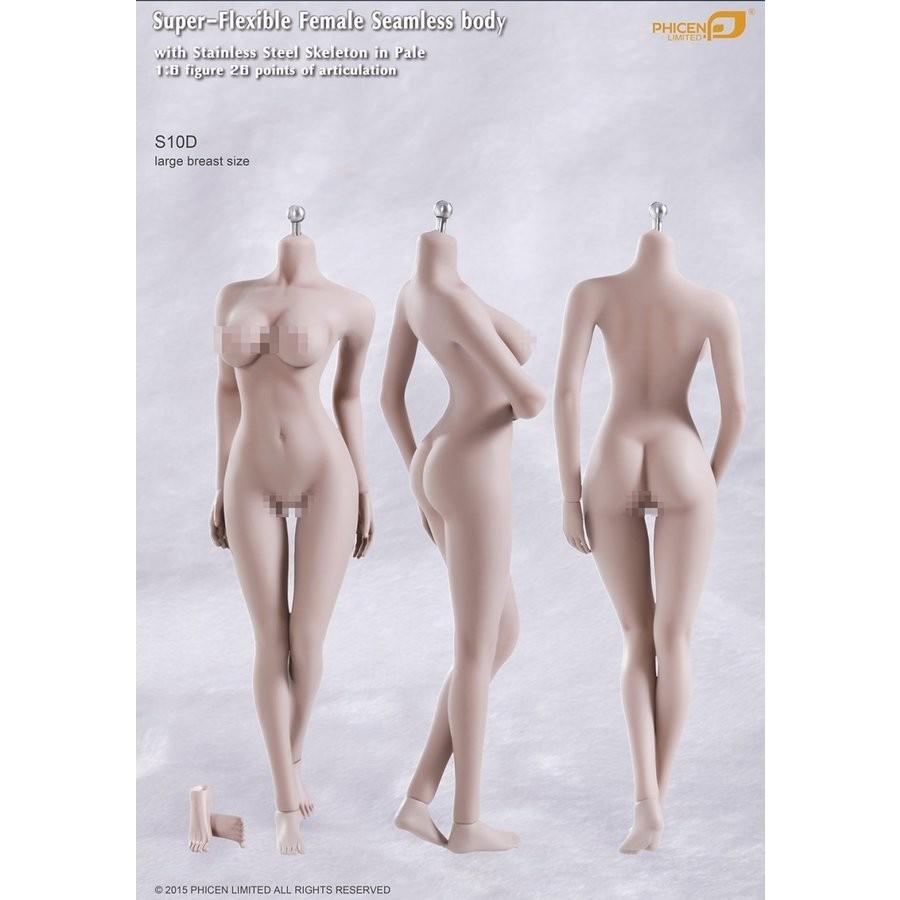 TBLeague / TBリーグ S10D Pale 1/6 女性 素体 スーパーフレキシブル シームレス ボディ ペール(白肌色)