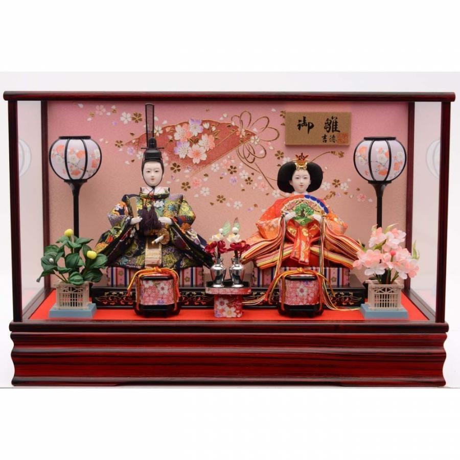 【雛人形】ベビーザらス限定 ケース親王飾り「扇に桜リボン紫檀調」【送料無料】