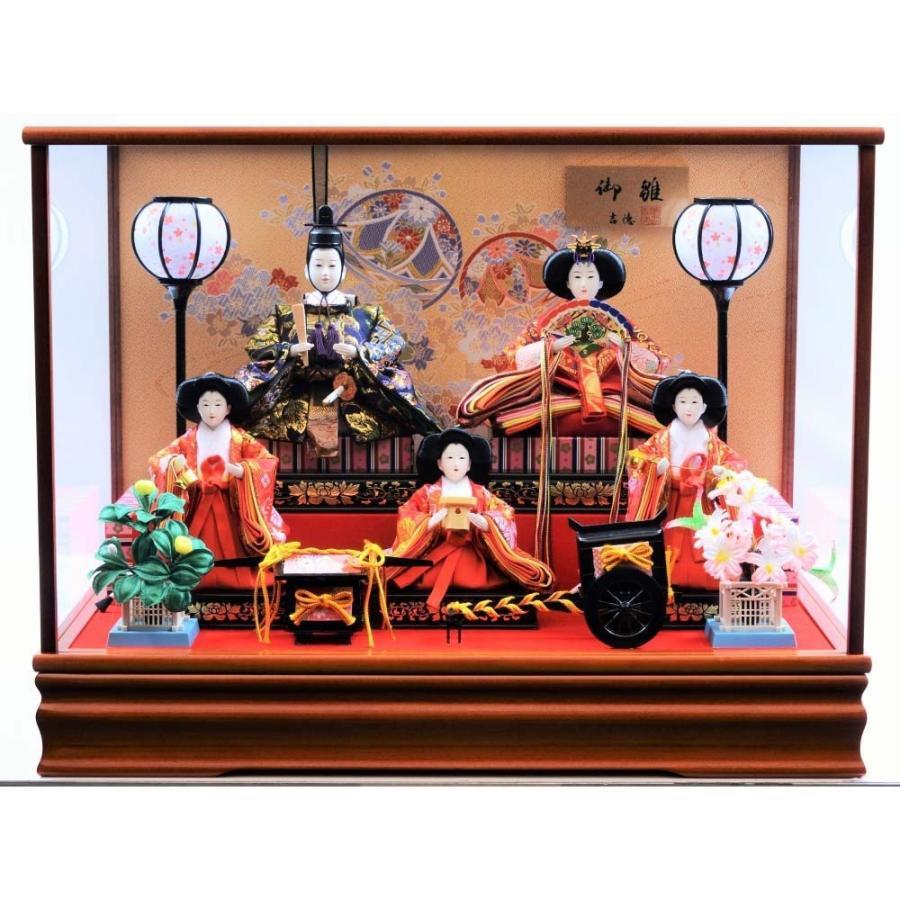 【雛人形】ベビーザらス限定 ケース五人飾り「手毬桜けやき塗」【送料無料】