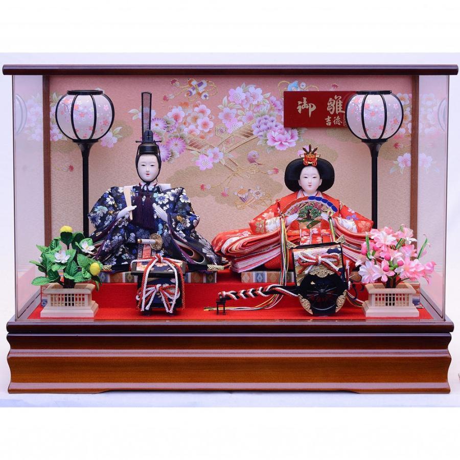 【雛人形】ベビーザらス限定 ケース親王飾り「春陽花車アクリル」【送料無料】