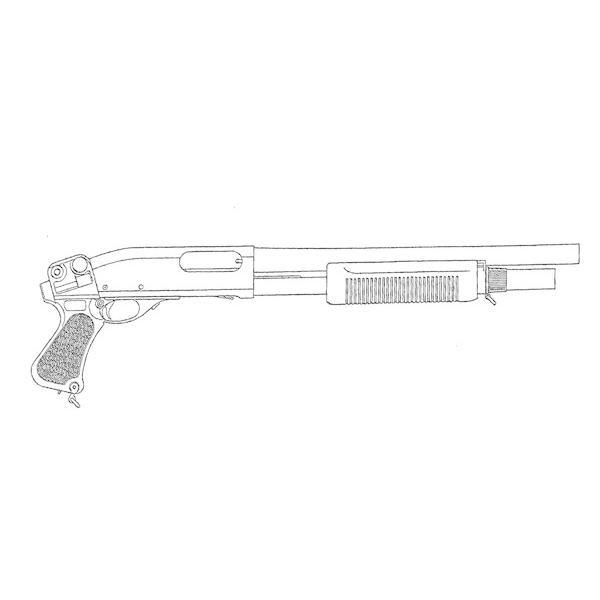 マルゼン ガスショットガン M870 GV+1 グリップバージョン・プラスワン 送料無料