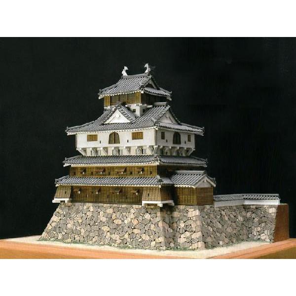 送料無料!! ウッディジョー 木製建築模型 1/150 岩国城 レーザーカット加工