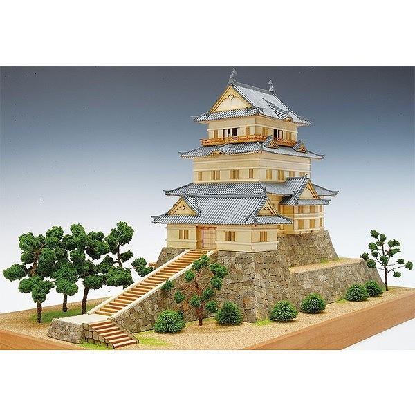 木製建築模型 1/150 小田原城 送料無料