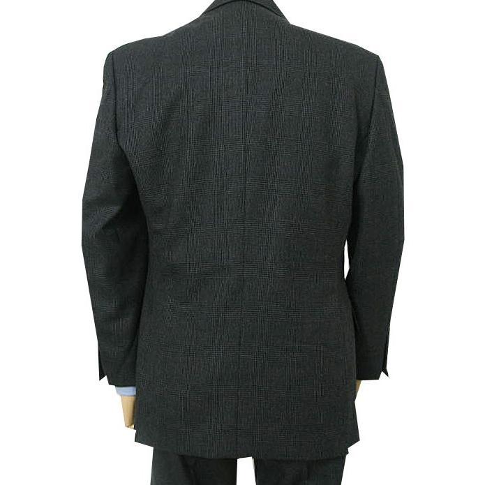 秋冬 スーツ メンズ スリーピース チャコールグレー グレンチェック 段返り3つボタン 0218|tradhousefukiya|03