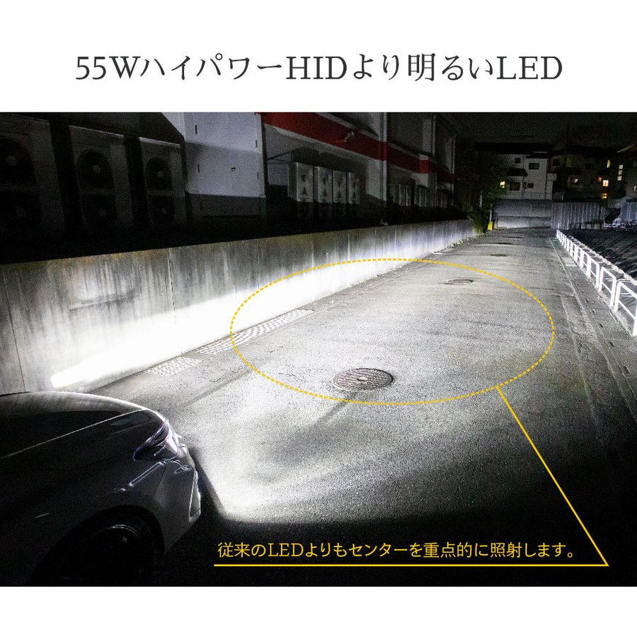 55W HIDよりも明るい LEDヘッドライト Mシリーズ H1 H3 H3C h4 H7 H8 H11 H16 H10 HB3 HB4 HIR2 PSX24W PSX26W 爆光17880lm 6500k 車検対応 フォグランプ tradingtrade 05