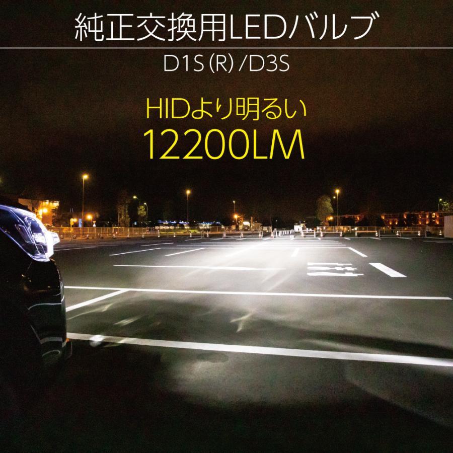 HID屋 LEDヘッドライト D1S/D3S 12200lm 6500k ホワイト 35W 2本1セット 車検対応 純正交換用 LEDバルブ 加工不要 ワーニングキャンセラー内蔵 輸入車 Dシリーズ|tradingtrade|02