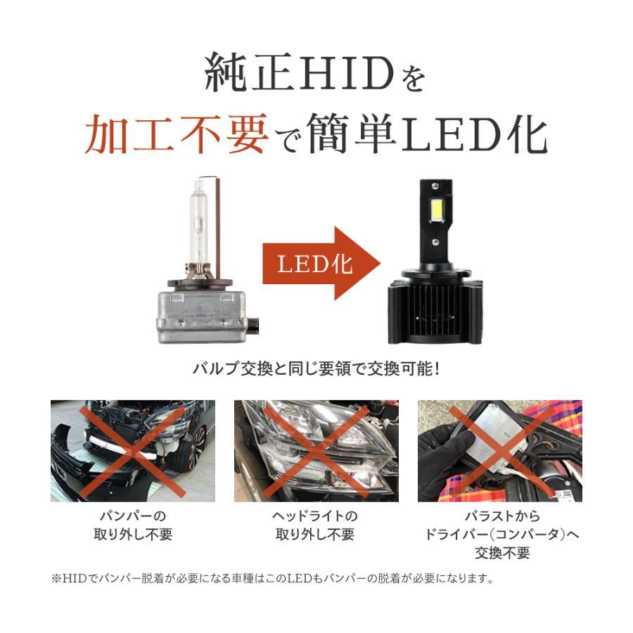 HID屋 LEDヘッドライト D1S/D3S 12200lm 6500k ホワイト 35W 2本1セット 車検対応 純正交換用 LEDバルブ 加工不要 ワーニングキャンセラー内蔵 輸入車 Dシリーズ|tradingtrade|03