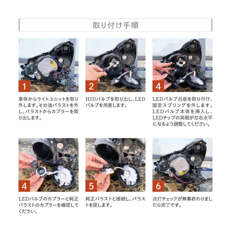 HID屋 LEDヘッドライト D2S D2R D4S D4R 12200lm 6500k ホワイト 35W 2本1セット 車検対応 加工不要 純正HIDを簡単LED化 ドライバー内蔵式 Dシリーズ tradingtrade 14