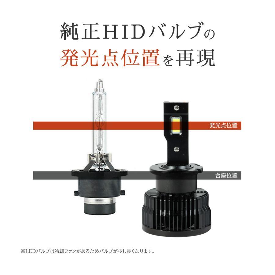 HID屋 LEDヘッドライト D2S D2R D4S D4R 12200lm 6500k ホワイト 35W 2本1セット 車検対応 加工不要 純正HIDを簡単LED化 ドライバー内蔵式 Dシリーズ tradingtrade 10