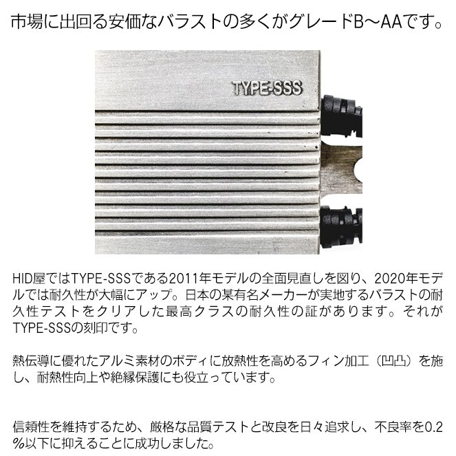 HID屋 55W HIDキット スタンダードタイプ H4Hi/Lo リレー付/リレーレス H11 H9 H8 H16 HB4 HB3 H7 H3C H3 H1 バルブ 3000K 4300k 6000k 8000k 12000K|tradingtrade|12