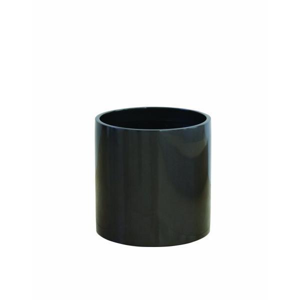 大和プラスチック 鉢カバー&ポット リングポット 底面穴あき加工済み [ファイ]430×H410 R-43 メタリックグレー