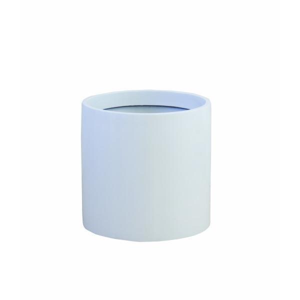 大和プラスチック 鉢カバー&ポット リングポット 底面穴あき加工済み [ファイ]340×H330 R-34 ホワイト