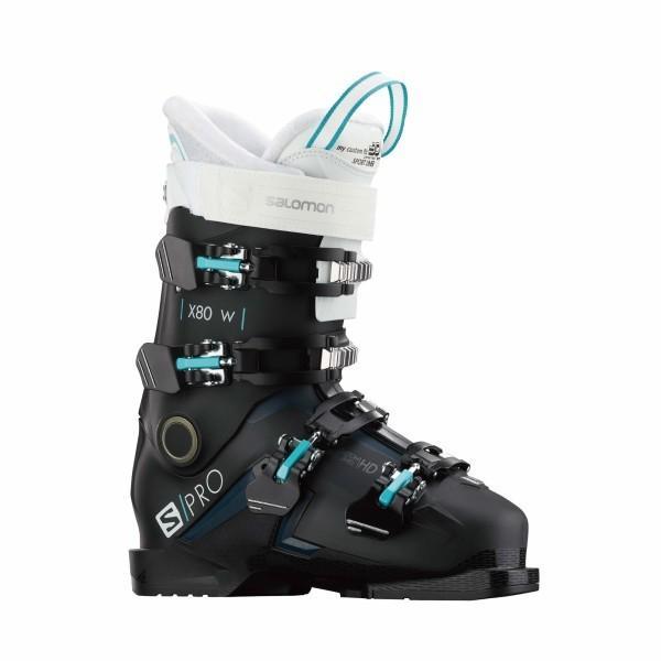 【絶品】 SALOMON(サロモン) スキー ブーツ 2019-20年モデル S/PRO X80 W (エス/プロ X80 レディース ) L40948200 BLACK/White/Petrol Blue 22/, 八幡西区 5b03c76d