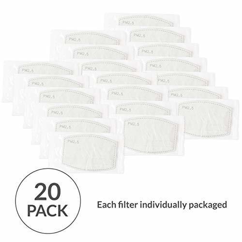 WEDDINGSTAR PM 2.5 保護 マスク フィルター 5層 カーボン テクノロジー 大人 サイズ 20フィルター|trafstore|03