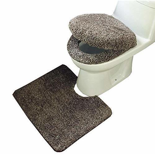 HOIBAI トイレカバー トイレマット セット おしゃれ トイレ 便座カバー u型 足元マット 暖かい 便座カバー 3点セ trafstore