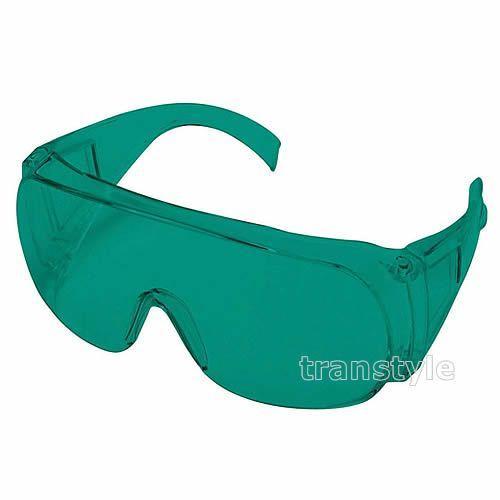送料無料 レーザー用メガネ RS-02 ヘリウムネオン用 青緑レンズ 光学濃度OD5以上 保護メガネ/波長/ガス/遮光