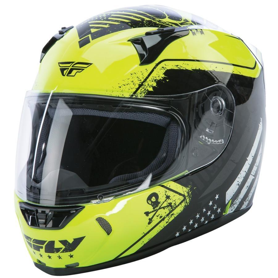 FLY Racing REVOLT FS PATRIOT ストリートヘルメット イエロー/ブラック